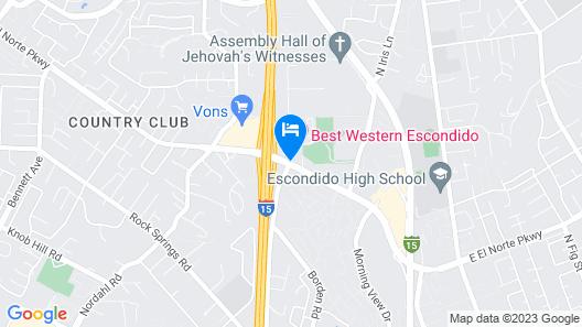 Best Western Escondido Hotel Map