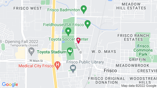 Holiday Inn Express & Suites Dallas-Frisco NW Toyota Stdm Map