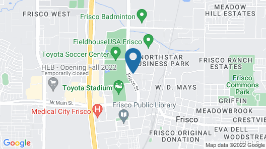 Holiday Inn Express & Suites Dallas-Frisco NW Toyota Stdm, an IHG Hotel Map