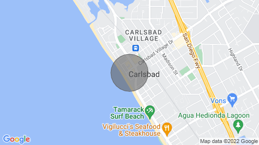 Carlsbad Inn Beach Resort Map