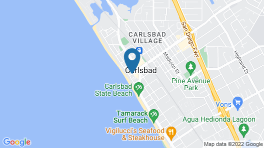 Carlsbad Inn Beach Resort Map