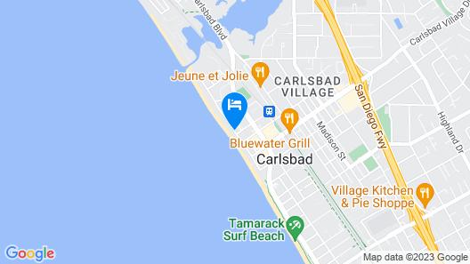 Beach Terrace Inn Map