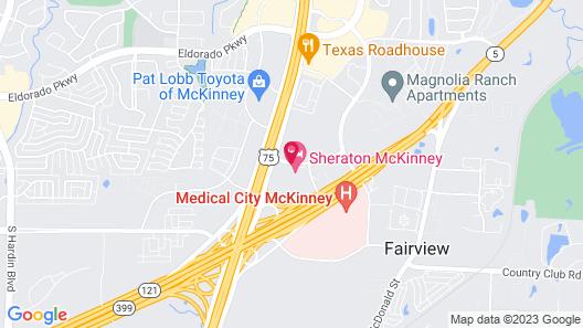 Sheraton McKinney Hotel Map
