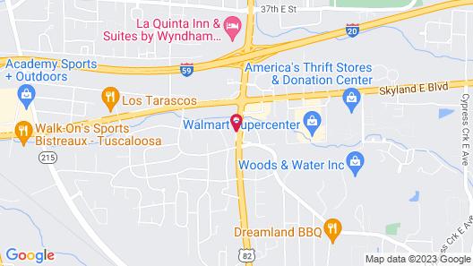 Motel 6 Tuscaloosa, AL Map