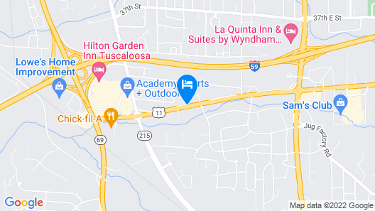 Ambassador Inn and Suites Tuscaloosa Map