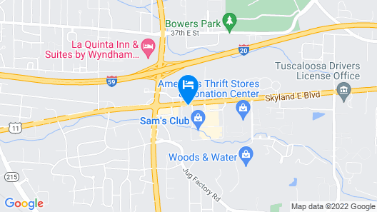 Days Inn & Suites by Wyndham Tuscaloosa - Univ. of Alabama Map