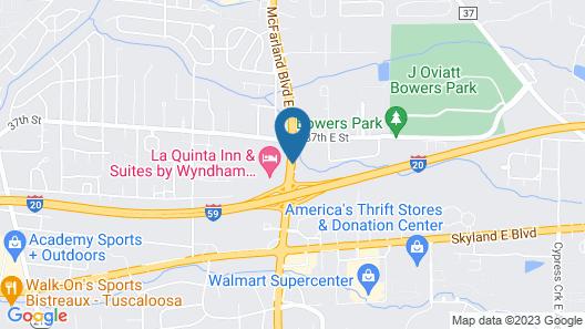 Best Western University Inn Map