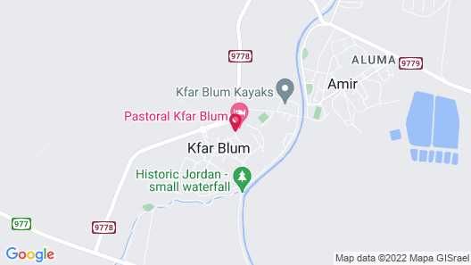 Pastoral Kfar Blum Hotel Map