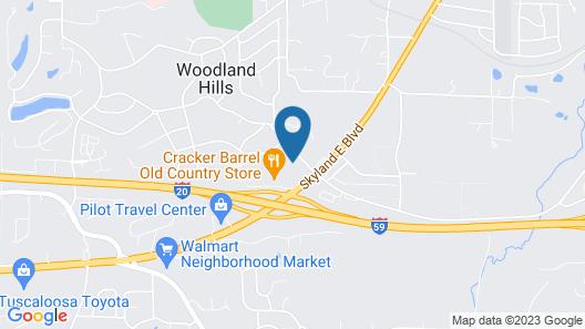Red Roof Inn PLUS+ Tuscaloosa - University Map
