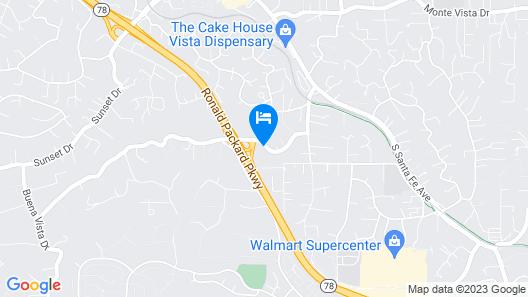 Motel 6 Vista, CA Map