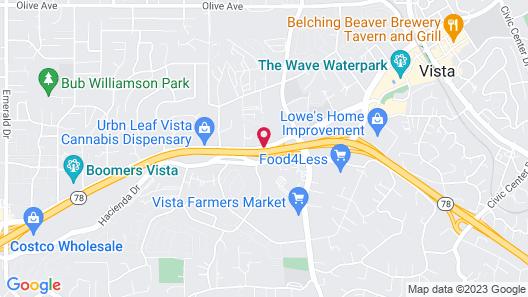 Vista Inn Motel Map