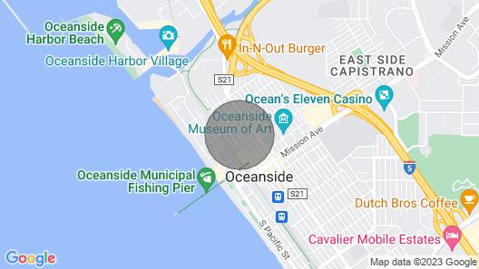 Oceanside Beach Condo. Walk to Beach! Map