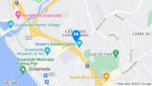 Travelodge by Wyndham Oceanside Map
