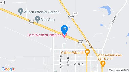 Best Western Post Inn Map