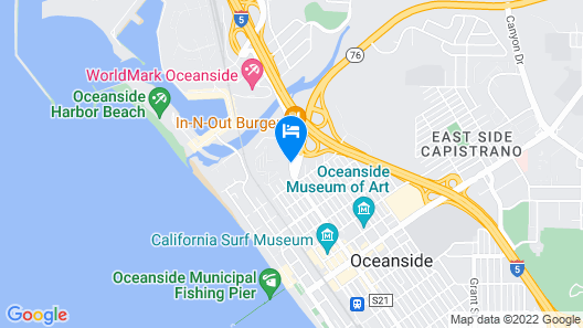 Best Western Plus Oceanside Palms Map