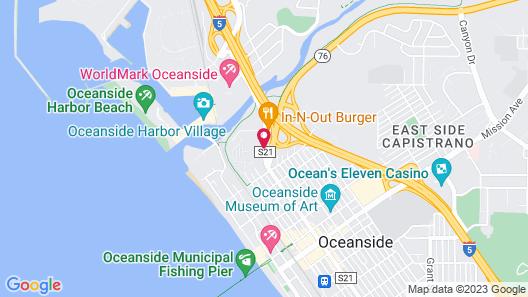 The Hotel Oceanside Map