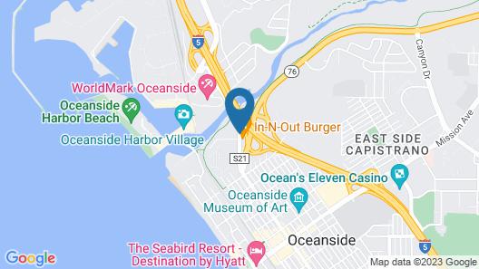 Rodeway Inn Oceanside Map