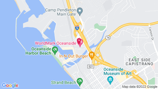Holiday Inn Oceanside Camp Pendleton Area, an IHG Hotel Map