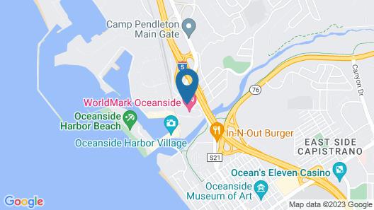 Holiday Inn Oceanside Camp Pendleton Area Map