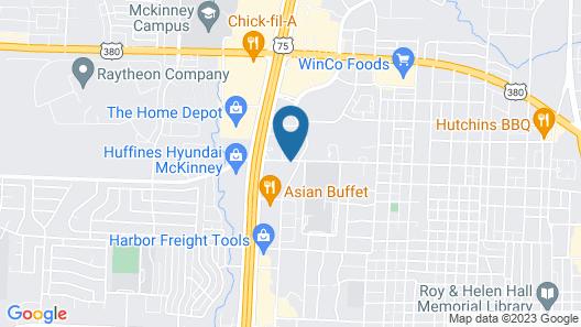 Motel 6 McKinney, TX - North Map