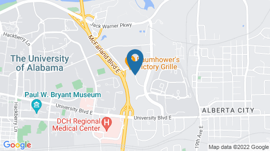 Hampton Inn Tuscaloosa-University Map