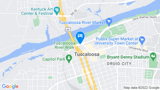 Homewood Suites by Hilton Tuscaloosa Downtown Map