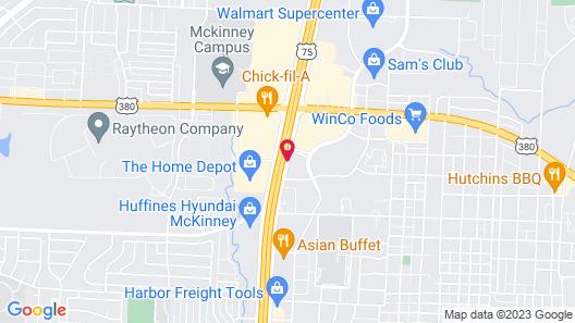 Comfort Suites McKinney-Allen Map