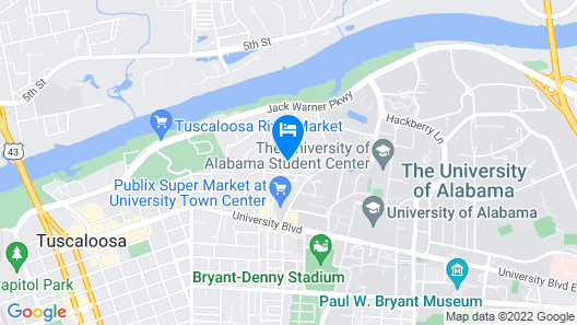 Bama Bed & Breakfast Campus Map