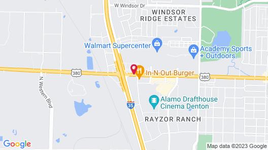 Best Western Plus Denton Inn & Suites Map
