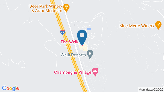 Vacation at the Welk Resort in Escondido Map