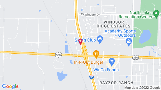 Motel 6 Denton, TX - UNT Map