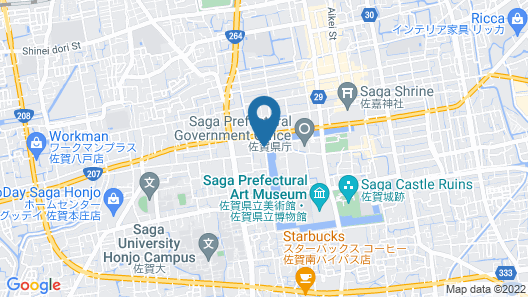 Hotel New Otani Saga Map
