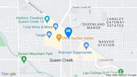 Hampton Inn Queen Creek Map