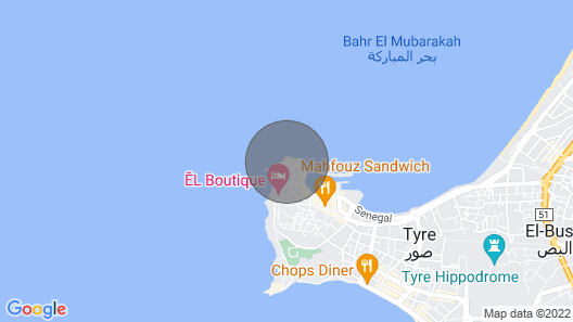Tyre the old Phenicien City +free Wifi Map