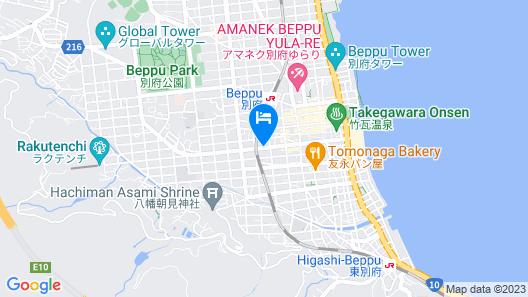 Beppu Kamenoi Hotel Map