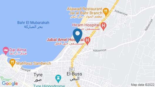 Crown Royal Hotel Tyr Map