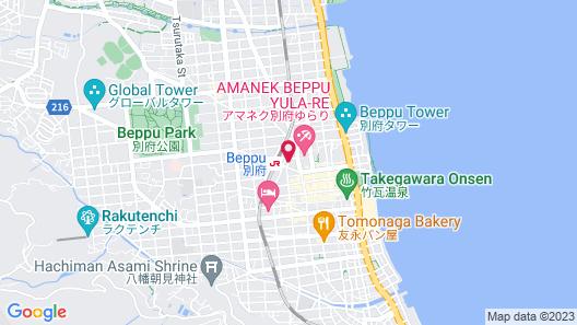 Beppu Ekimae Hotel Hayashi Map