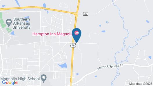 Hampton Inn Magnolia Map