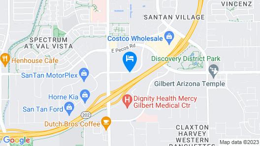 Hampton Inn & Suites Phoenix/Gilbert Map