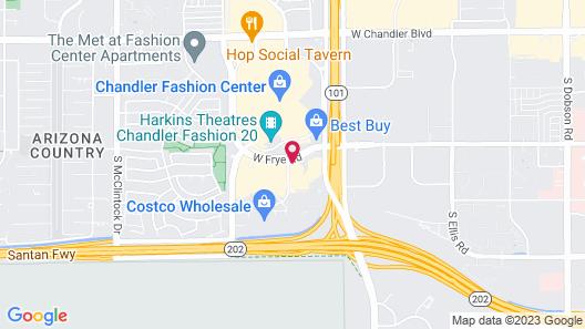 Cambria Hotel Phoenix Chandler - Fashion Center Map