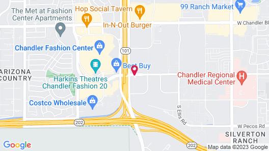 Hilton Phoenix Chandler Map