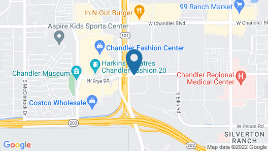 Hilton Phoenix Chandler Map