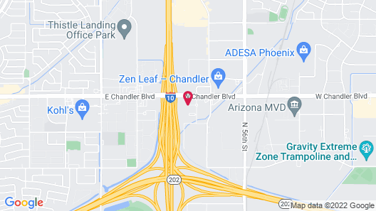 DoubleTree by Hilton Phoenix Chandler Map