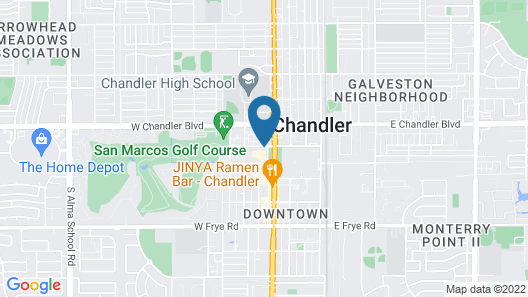 Crowne Plaza Phoenix - Chandler Golf Resort, an IHG Hotel Map