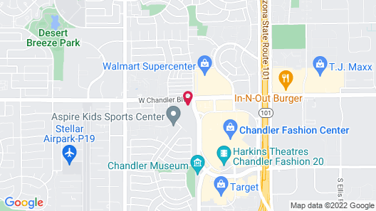 Hyatt Place Phoenix/Chandler-Fashion Center Map