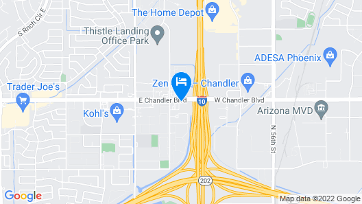 Extended Stay America Suites Phoenix Chandler E Chandler Blv Map
