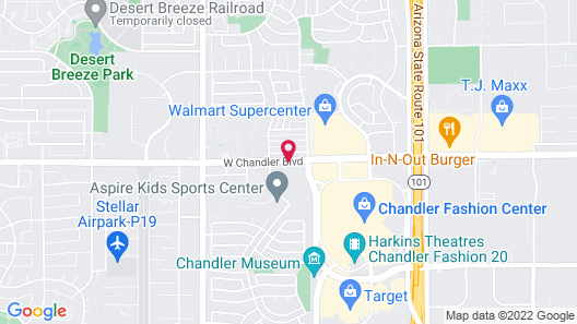 TownePlace Suites by Marriott Phoenix Chandler/Fashion Center Map