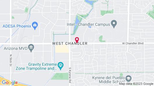Hawthorn Suites by Wyndham Chandler/Phoenix Area Map