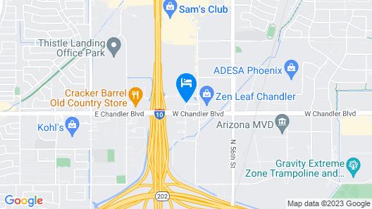 Hampton Inn Phoenix/Chandler Map