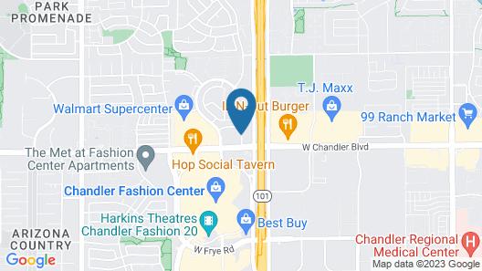 Residence Inn by Marriott Phoenix Chandler Fashion Center Map